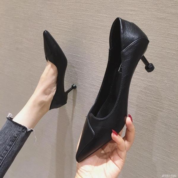 高跟鞋 高跟鞋女鞋子夏季新款百搭時尚紅色婚鞋尖頭細跟單鞋ol工作鞋 聖誕節鉅惠
