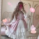 新款洛麗塔春夏日系少女可愛軟妹蘿莉學生洋裝日常洋裝萌套裝女 蘿莉新品