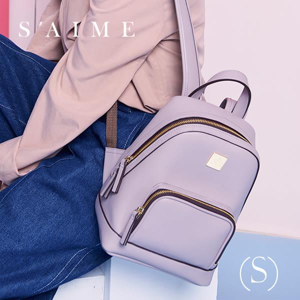S aime東京企劃【SBG28-A012S】Gill吉兒 方塊中性多功能後背包(S) 肩背 手提 多用