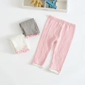 女童打底褲夏七分純棉童裝夏裝寶寶安全褲兒童純色褲子薄款短褲女 快速出貨