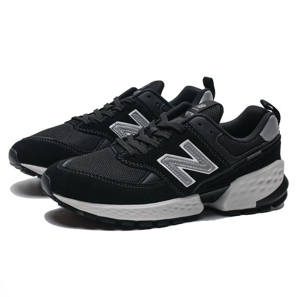 NEW BALANCE 574 黑 麂皮 反光 IU 慢跑鞋 情侶鞋 男女(布魯克林) MS574ACL