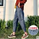 牛仔裤女裤子宽鬆高腰显瘦大码胖mm老爹萝卜2020年新款秋冬季加绒