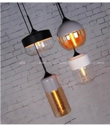 設計師美術精品館北歐美式鄉村複古燈玻璃吊燈現代簡約創意個性咖啡廳燈具燈飾餐廳單頭