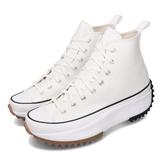 Converse 休閒鞋 Run Star Hike 白 黑 女鞋 運動鞋 鋸齒鞋 厚底 【PUMP306】 166799C