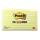 《享亮商城》655L-1 黃色 橫格 利貼可再貼便條紙  3M