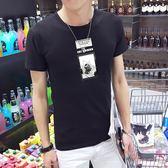 男短t恤 韓版T恤 男t恤 夏裝男士短袖t恤 韓版修身上衣 休閒打底衫【非凡上品】q763