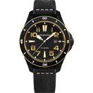 elegantsis JT65 騎士系列復古潮流腕錶-黑x金框/48mm ELJT65-2G01LC