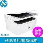 HP LaserJet Pro M28w 無線雷射多功事務機【登錄送7-11禮卷300元】