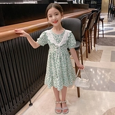 女童洋裝 網紅女童連身裙夏2021新款兒童公主裙夏季洋氣女孩碎花裙夏裝裙子【快速出貨】