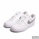 NIKE 女 經典復古鞋WMNS NIKE COURT VISION LOW 白銀 經典 穿搭-CD5434111