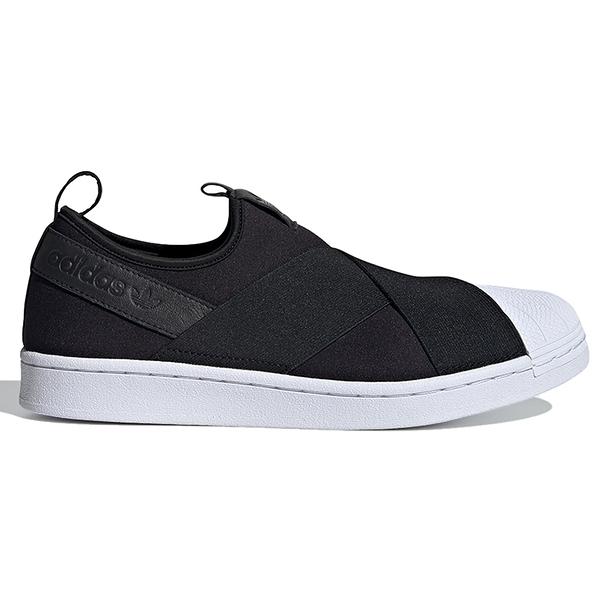 【現貨】ADIDAS SUPERSTAR SLIP-ON 女鞋 休閒 繃帶 襪套 黑【運動世界】FW7051