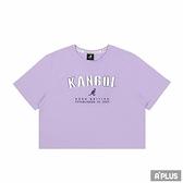KANGOL 女 短版T 紫淺 大LOGO-6122100691