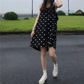 細肩帶洋裝 點點 平口 吊帶 短裙 細肩帶 洋裝 連身裙【MY6991】 ENTER  08/09