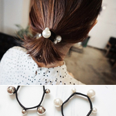 大小 珠珠 拼接 簡約 髮圈 髮飾