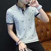 男士短袖POLO衫純棉2018夏季新款青年t恤潮男流韓版修身半袖  良品鋪子