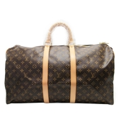 LOUIS VUITTON LV 路易威登  原花手提旅行袋55公分 Keepall 55 M41424 【BRAND OFF】