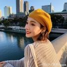 造型帽 帽子女秋冬針織貝雷帽英倫復古日系韓版百搭ins潮網紅蓓蕾帽冬天 開春特惠