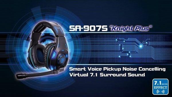 【台中平價鋪】全新 SADES 賽德斯 SA-907S Knight 黑暗騎士 7.1 電競 頭戴式 耳機麥克風 原廠公司貨