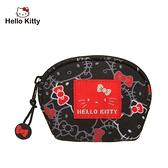 【橘子包包館】Hello Kitty 繽紛凱蒂-零錢包-黑 KT01V05BK 零錢包