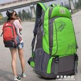 旅行背包男書包女士後背包旅游出差休閒運動戶外輕便大容量登山包-完美