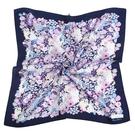 NINA RICCI滿版花卉圖騰絹絲綿領帕巾(深藍色)989028-B