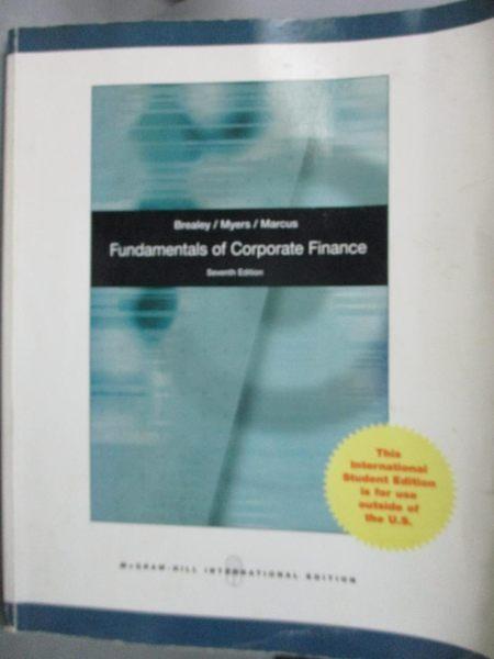 【書寶二手書T3/大學商學_YGN】Fundamentals of Corporate Finance_Brealey