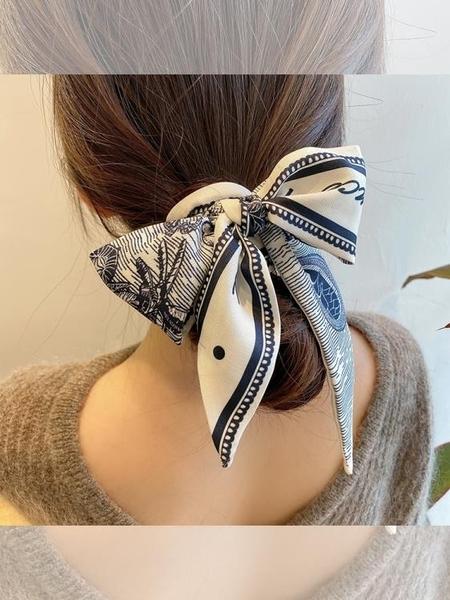 知更鳥法式絲巾發帶女綁發小窄細長頭巾復古氣質法式ins絲帶發飾 小時光生活館