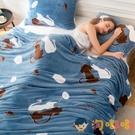 珊瑚絨毛毯被子毯子加厚法蘭絨床單辦公室午睡毯單人毯子【淘嘟嘟】