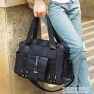 尼龍韓版男包包商務休閒手拎行李包男士旅行包手提單肩斜挎包 名購居家