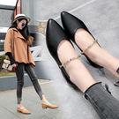 韓版時尚平底鞋ol套腳女鞋百搭一腳蹬懶人鞋女鞋