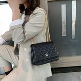 菱格鏈條小包包女新款潮韓版百搭斜挎包鏈條單肩小香風小方包|米莎