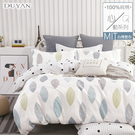 《DUYAN竹漾》100%精梳純棉雙人加大四件式舖棉兩用被床包組-光年秘境