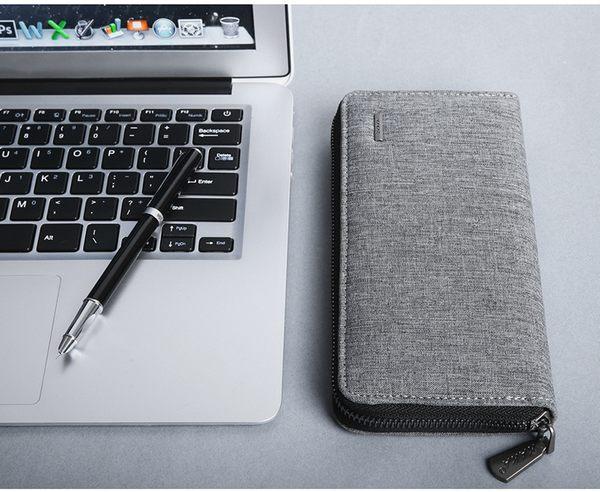 J051 長夾手拿包+禮盒包裝》長夾 手拿包 可放5.5吋手機 零錢包 長皮包 信用卡夾 男用皮夾