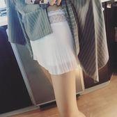 安全褲 夏百褶內搭安全褲寬鬆百搭蕾絲拼接雙層防走光打底褲女保險褲短褲 鉅惠