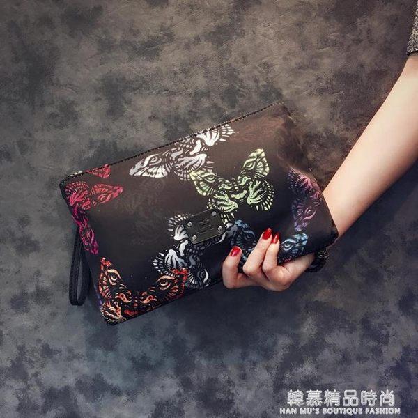 原創設計韓版手包 新款蝴蝶圖案手拿包 潮流尚男女手拿包信封包潮