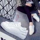 休閒鞋-小白鞋-皮革純色經典百搭時尚女鞋子2色73no12【巴黎精品】