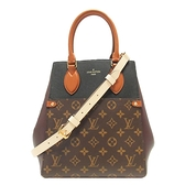 LOUIS VUITTON LV 路易威登 原花撞色手提肩背2way包 Fold Tote MM M45409  BRAND OFF