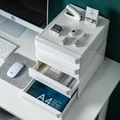 辦公桌面收納盒塑料抽屜式收納柜辦公室置物...