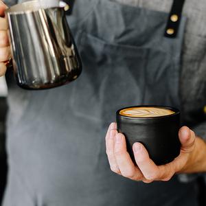 FELLOW MONTY 雙層陶瓷咖啡杯– 6.5oz卡布杯拉花杯啞光黑