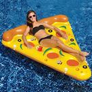 Qmigirl 夏日充氣披薩造型 游泳圈 成人游泳圈 水上座椅 大號救生圈 充氣玩具 漂浮床 泳圈【QJ2139】