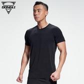 速乾衣 健身短袖t恤男夏季薄款寬松戶外跑步緊身吸汗透氣訓練運動上衣服