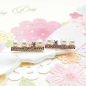 耳環 玫瑰金 925純銀鑲鑽-百搭流行生日情人節禮物女飾品2色73gs148【時尚巴黎】