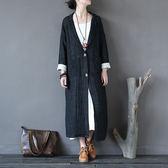刷毛外套 復古 做舊 棉麻 厚 風衣 長版衫 長袖 外套【CM0224】 icoca  10/26