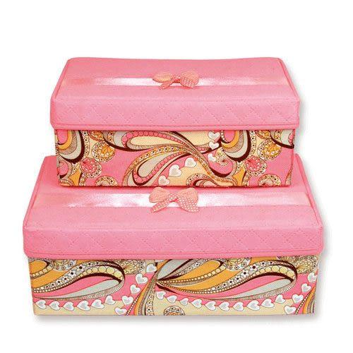 Qmishop 有蓋收納盒(小號)無紡布收納箱收納盒 雜物箱【QJ1794】