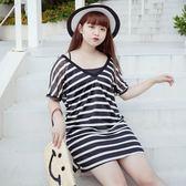 Poly Lulu 夏日涼感條紋兩件式洋裝-黑【92270287】