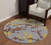 圓形 綸地毯新中式臥室房間床邊毯書房美式電腦轉椅毯【限時八五折】