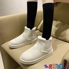 雪地靴 雪地靴女短筒秋冬季爆款棉鞋2021新款網紅一腳蹬加絨加厚保暖短靴寶貝計畫 上新