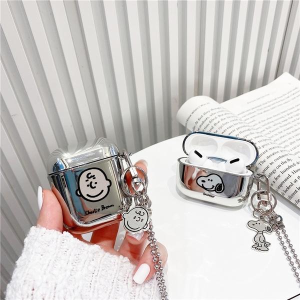 [ Airpods Pro 1/2 ] 電鍍史努比查理布朗 蘋果無線耳機保護套 iPhone耳機保護套