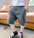 男童五分褲 男童褲子夏裝2020新款兒童牛仔短褲中大童夏季五分褲正韓洋氣【快速出貨】