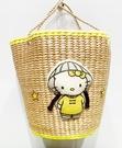 【震撼精品百貨】Hello Kitty 凱蒂貓~日本三麗鷗 kitty 編織手提袋/側背包-越南風情#71608